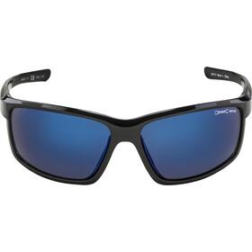 Alpina Defey Glasses black/blue mirror